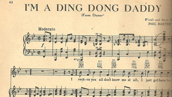 ding dong daddy sheet music
