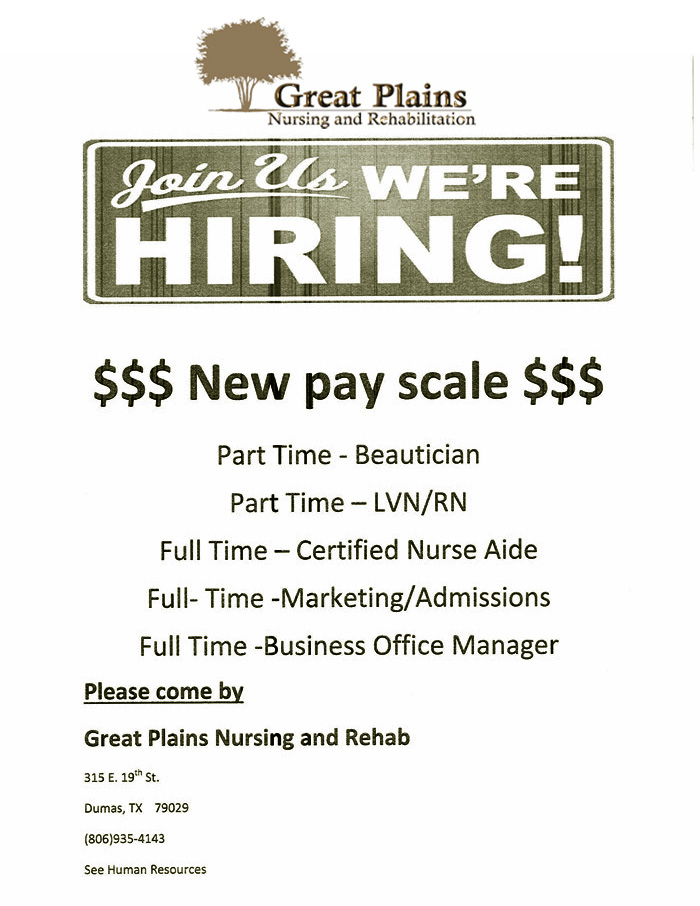 great plains nursing rehad job post2